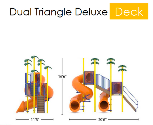Double Flume, 1180/540, Dual Triangle Deck Deluxe