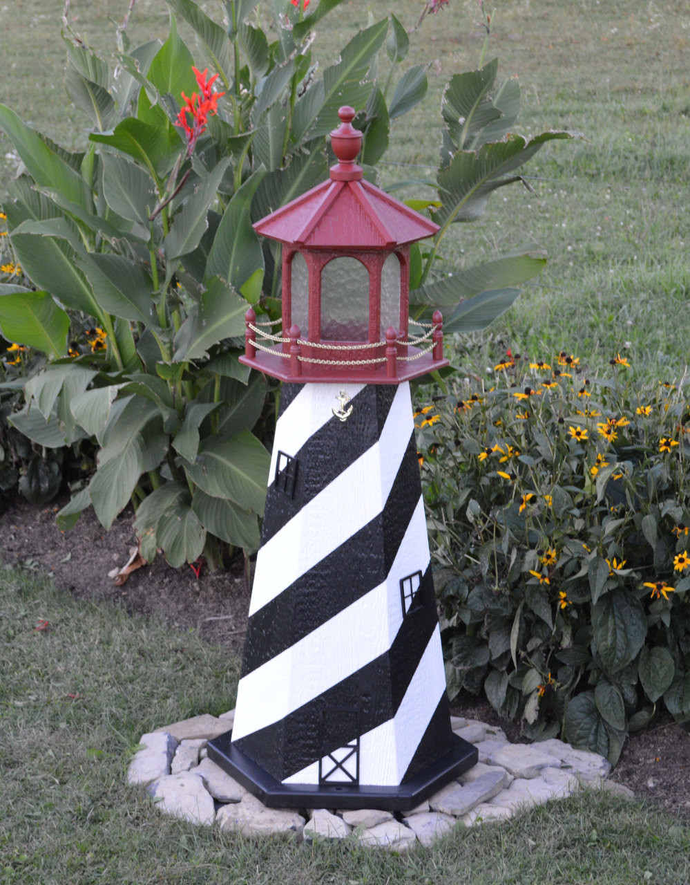 Amish Made Wood Garden Lighthouse - St. Augustine on amish christmas decor, amish gardening tips, amish well covers, amish hutch plans, amish toys, amish duck houses, amish gifts, amish hay equipment, amish tractors, amish wooden garages, amish stoneware, amish fence posts, amish animals, amish plates, amish dinnerware, amish garage plans, amish tools, amish garden wagon, amish telephone booths,