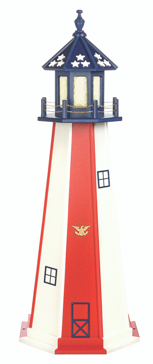 Terrific Amish Made Poly Outdoor Lighthouse Patriotic Model Wiring 101 Cranwise Assnl