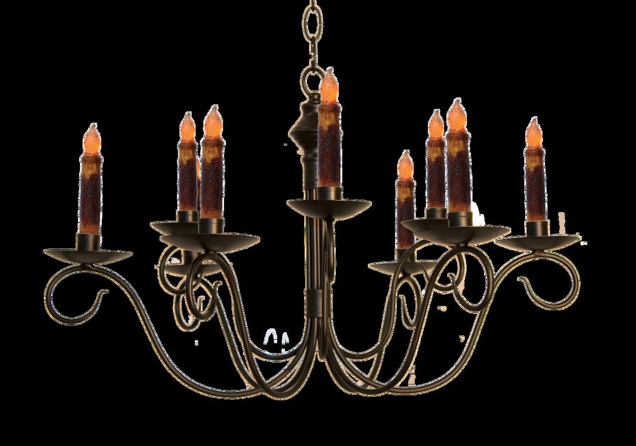 Katies Handcrafted Lighting Adams 2 Tier Wrought Iron Candle Chandeliers