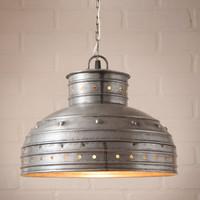 Milk Can Pendant Light In Weathered Zinc K15-20WZ Industrial Vintage New