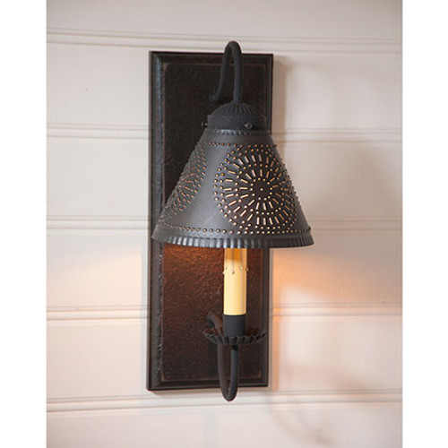 Irvin's Crestwood Wall Sconce Finished In Americana Black
