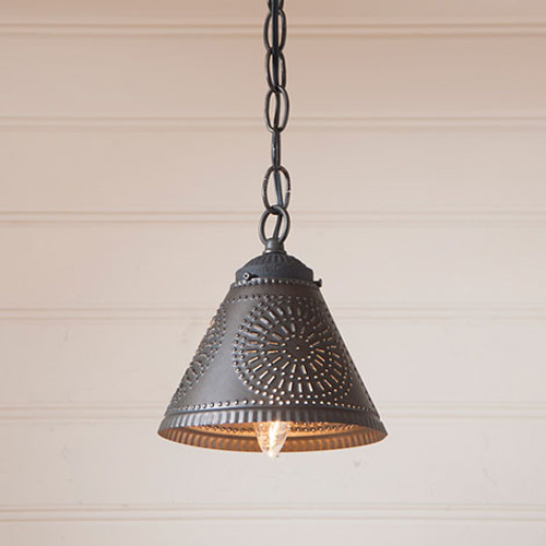 Irvin's Crestwood Shade Light Finished In Kettle Black
