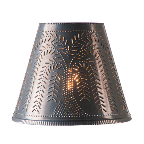 Irvins Fireside Lamp Shade 14 Inch - Willow Design Finished Kettle Black