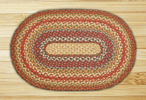 Earth Rugs™ oval braided jute rug in pictured in: Honey/Vanilla/Ginger - C-300