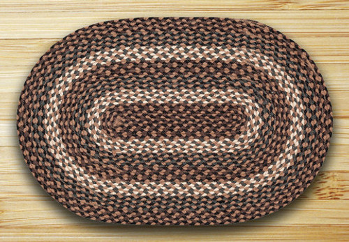Earth Rugs™ oval braided jute rug in pictured in: Tan - C-770