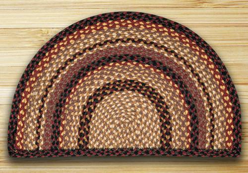 Earth Rugs™ Slice Braided Jute Rug Pictured In: Black Cherry, Chocolate, & Cream