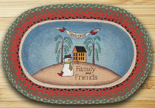 Earth Rugs™ Oval Patch Rug - Welcome Family - OP-025