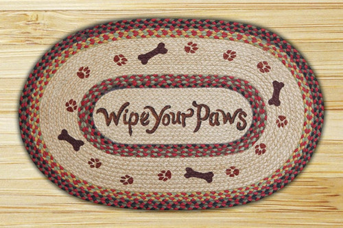 Earth Rugs™ Oval Patch Rug - Wipe Your Paws - OP-081