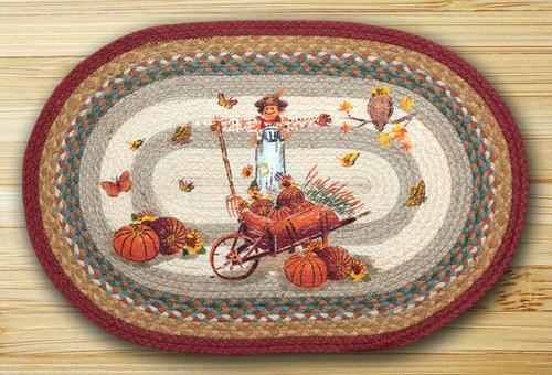 Earth Rugs™ Oval Patch Rug - Pumpkin Celebration - OP-222