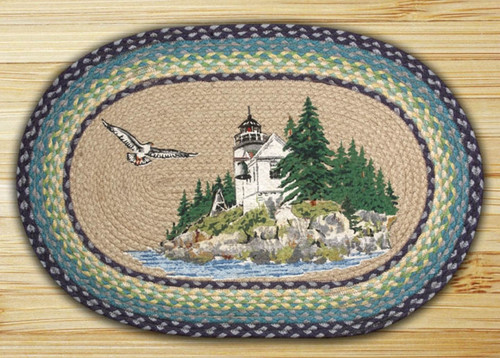 Earth Rugs™ Oval Patch Rug - Bass Harbor - OP-311