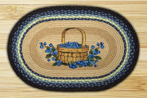 Earth Rugs™ Oval Patch Rug - Blueberry Basket - OP-312