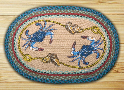 Earth Rugs™ Oval Patch Rug - Blue Crab - OP-359