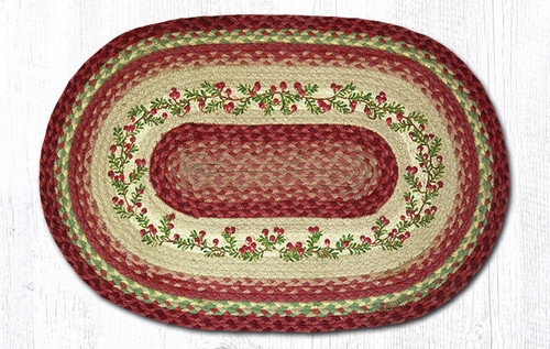 Earth Rugs™ Oval Patch Rug - Cranberries - OP-390