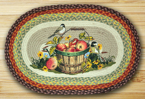 Earth Rugs™ Oval Patch Rug - Apple Chickadee - OP-426