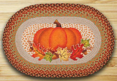 Earth Rugs™ Oval Patch Rug - Pumpkin Leaf - OP-438