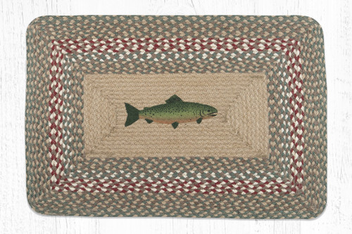 Earth Rugs™ Rectangle Braided Jute Rug - Fish - PP-009