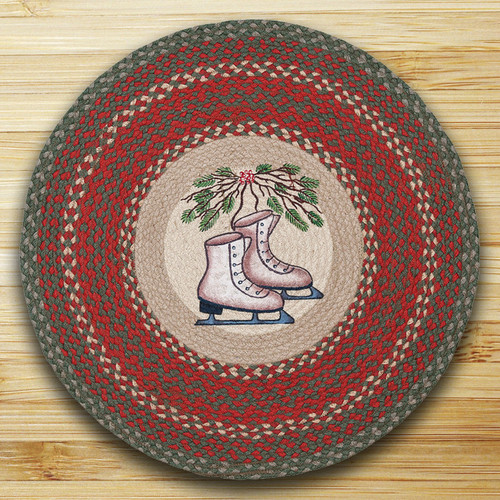 Earth Rugs™ Oval Patch Rug - Skates - RP-025