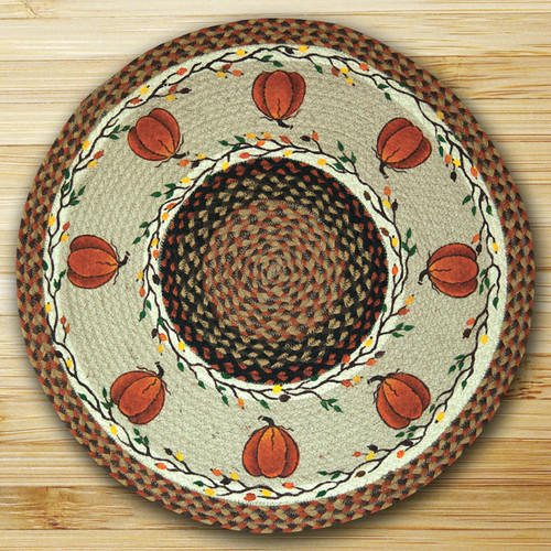 Earth Rugs™ Oval Patch Rug - Harvest Pumpkin - RP-222