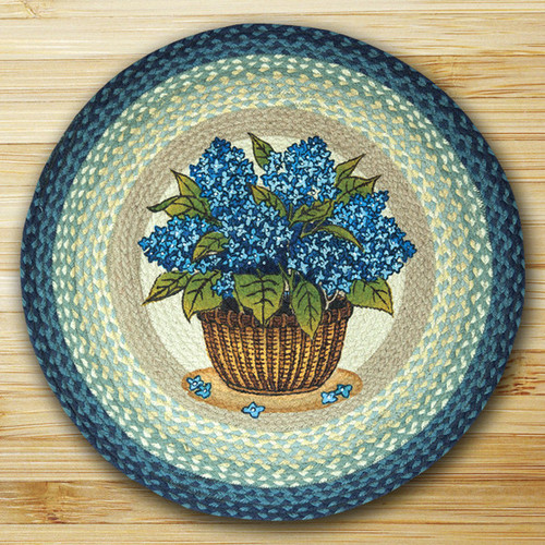 Earth Rugs™ Oval Patch Rug - Blue Hydrangea - RP-362