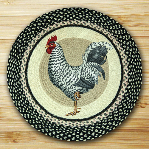 Earth Rugs™ Oval Patch Rug - Rooster - RP-430