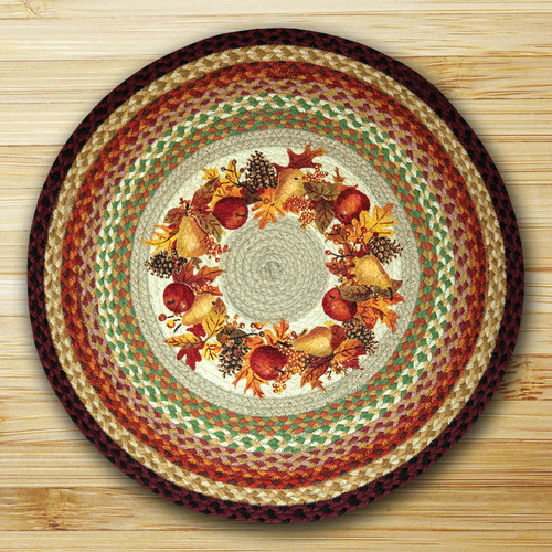 Earth Rugs™ Oval Patch Rug - Autumn Wreath - RP-431