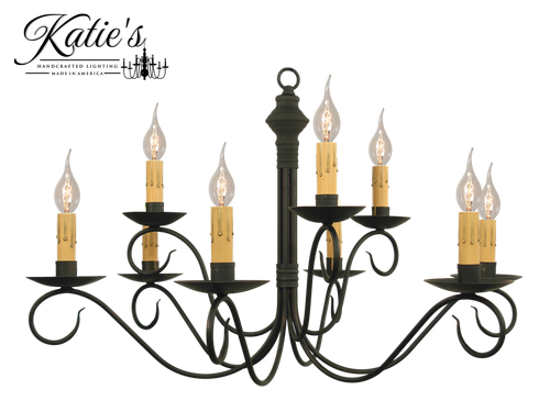 Katie's Handcrafted Lighting Adams 2-Tier Chandelier Finished In Aged Black Finish