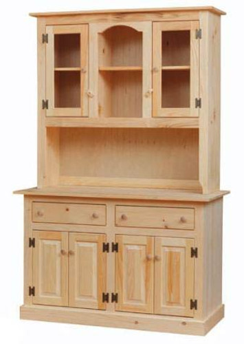 Amish Handcrafted Colonial Server Hutch by Vintage Creations By Sam - Unfinished