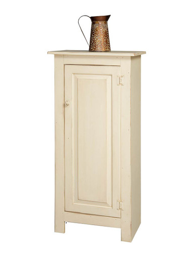 Amish Handcrafted Small Jelly Cupboard by Vintage Creations By Sam - Finished In Distressed Cream White
