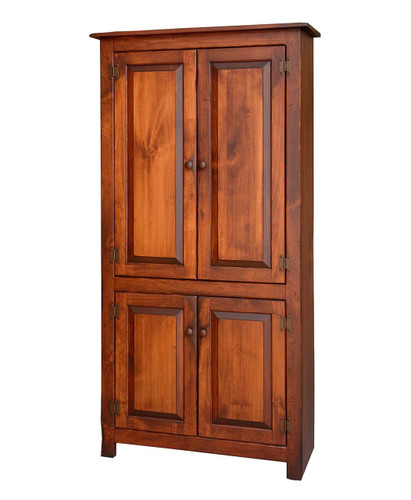 Amish Handcrafted 4 Door Pantry by Vintage Creations By Sam - Finished In Antique Finish With Heritage Stain