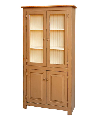 Amish Handcrafted 4 Door Pantry by Vintage Creations By Sam - Finished In A Custom Finish
