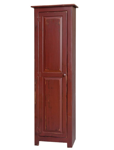 Amish Handcrafted New England 1 Door by Vintage Creations By Sam - Finished In Distressed Finish, Barn Red