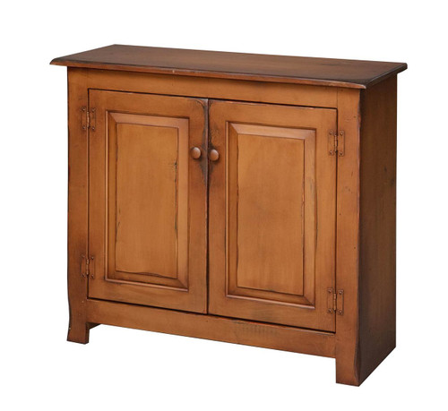 Amish Handcrafted Hall Console by Vintage Creations By Sam - Finished In Antique Finish, Mustard