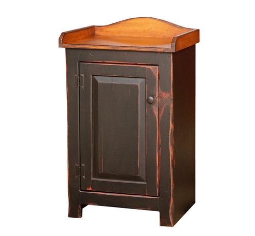Amish Handcrafted Small Dry Sink by Vintage Creations By Sam - Finished In Antique 2-Tone Finish, Black With Heritage Stain