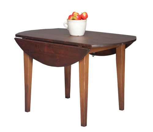 """Amish Handcrafted 5 Foot Farm Table With 3"""" Shaker Legs by Vintage Creations By Sam - Finished With A Custom 2-Tone Finish"""