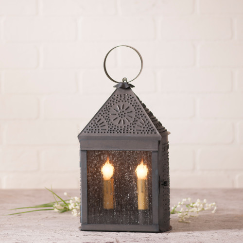 Irvin's Tinware Harbor Lantern Finished In Kettle Black