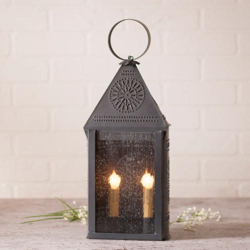 Irvin's Tinware Hospitality Lantern Finished In Kettle Black