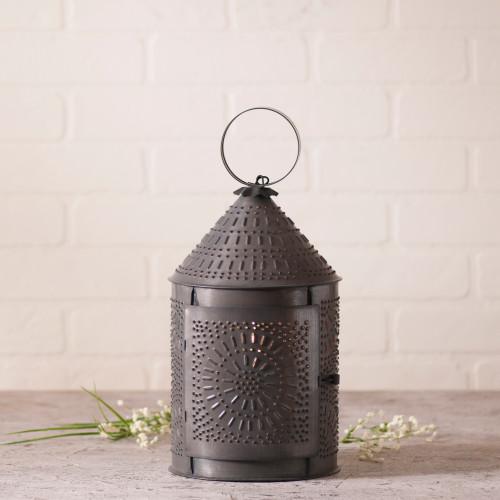 "Irvin's Tinware 15"" Fireside Lantern Finished In Kettle Black"