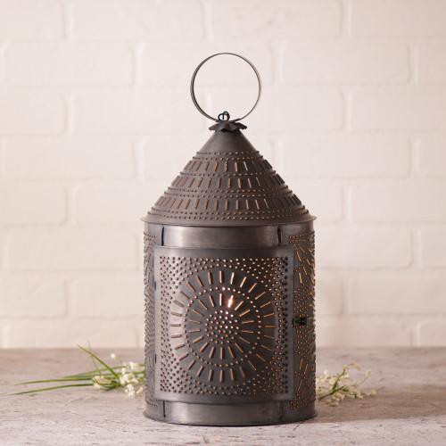 "Irvin's Tinware 17"" Fireside Lantern Finished In Kettle Black"