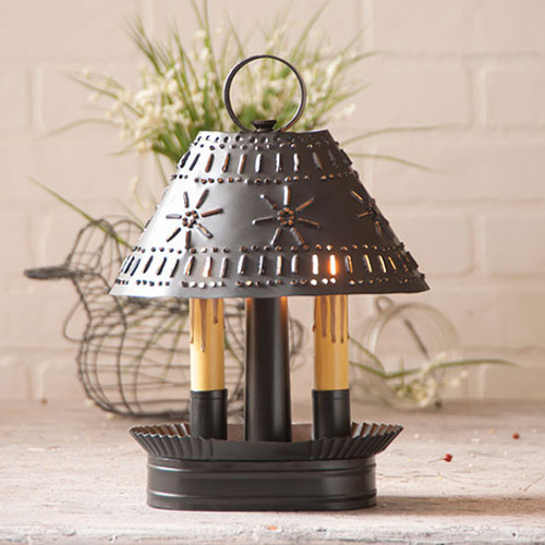 Irvin's Tinware Grandma's Accent Light Finished In Smokey Black