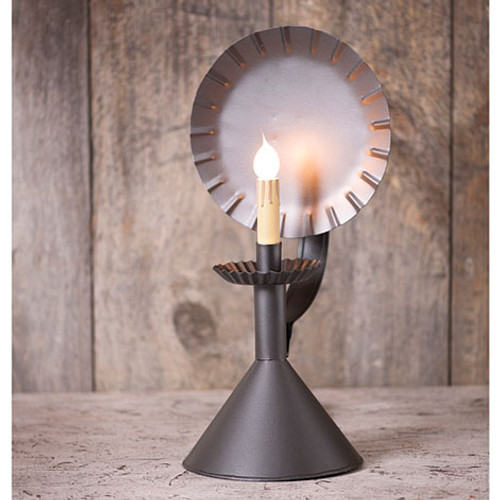 Irvin's Tinware Accent Light On A Cone Finished In Smokey Black