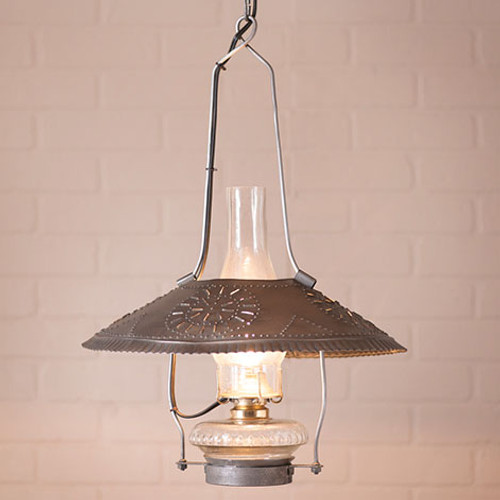 Irvin's Tinware Store Lamp Finished In Antique Tin