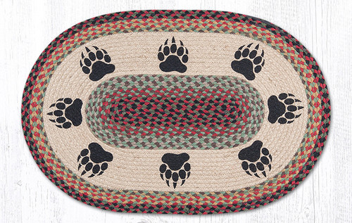 Earth Rugs™ Oval Patch Rug - Bear Paws - OP-081