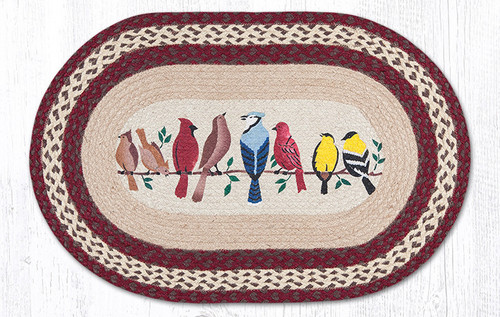 Earth Rugs™ Oval Patch Rug - Birds On A Wire - OP-501