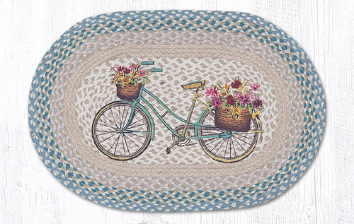 Earth Rugs™ Oval Patch Rug - My Bicycle - OP-522