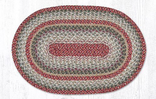 Earth Rugs™ oval craft-spun braided jute rug in pictured in: Sage - C9-92