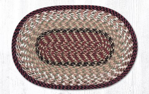 Earth Rugs™ Braided Cotton Placemats: Burgundy/Mustard - 40-019
