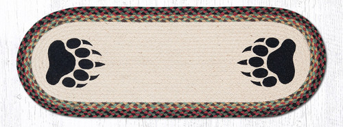 Earth Rugs™ Braided Jute Oval Table Runner: Bear Paw 68-081BP