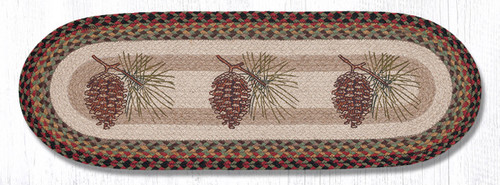Earth Rugs™ Braided Jute Oval Table Runner: Pinecone 68-081P