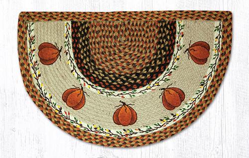 Earth Rugs™ Braided Jute Printed Slice Rug - Harvest Pumpkins